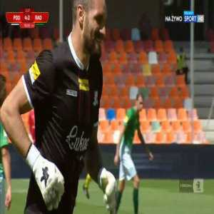Martin Polaček (Podbeskidzie Bielsko-Biała) miss vs. Radomiak Radom (90+3', Polish I liga)