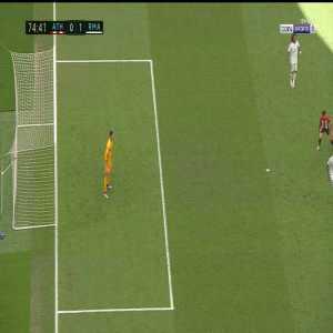 Sergio Ramos (Real Madrid) steps on Raul Garcia (Athletic Club) 75'
