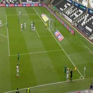 Swansea City 1-0 Sheffield Wednesday - Rhian Brewster Goal