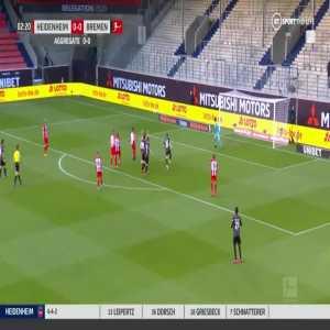 Heidenheim 0-1 Werder Bremen - Norman Theuerkauf own goal