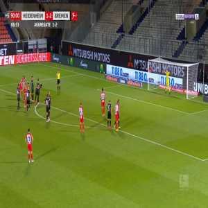 Heidenheim 2-[2] Bremen [2-2 on agg.] - Tim Kleindienst penalty 90'+7'