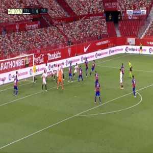 Lucas Ocampos save against Eibar 90'+11'