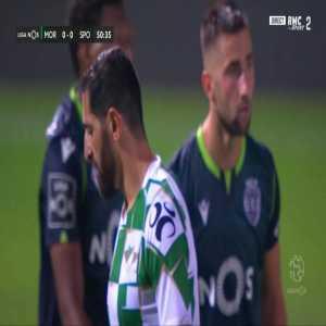 Rafik Halliche (Moreirense) straight red card against Sporting 51'