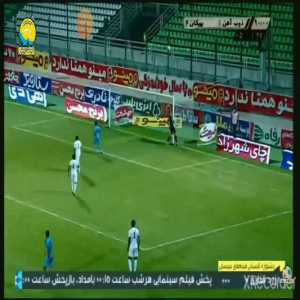 Successful somersault throw-in goes more than 3/4 down the length of the pitch in the Persian Gulf Pro League