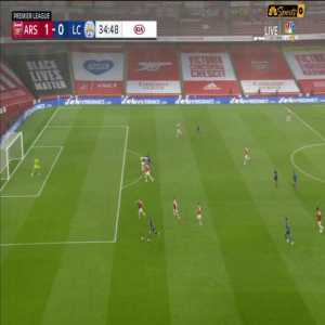 Arsenal 1-0 Leicester City - Iheanacho 35' Disallowed Goal (No VAR)
