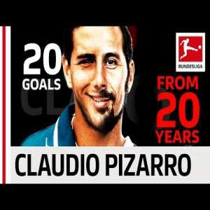 Claudio Pizarro retired yesterday, here are some of his goals over the years.
