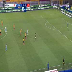 Patric Gabarron (Lazio) straight red card against Lecce 90'+3'