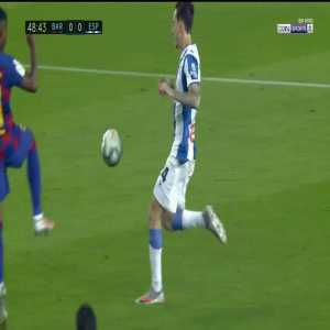 Ansu Fati red card foul vs. Espanyol