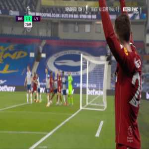 Brighton 1-[3] Liverpool - Mohamed Salah 76'