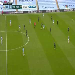 Manchester City 1-0 Newcastle: Gabriel Jesus goal 10'