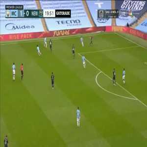 Manchester City 2-0 Newcastle: Riyad Mahrez goal 21'