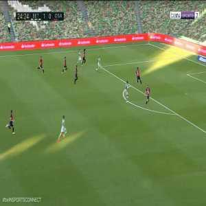 Real Betis 2-0 Osasuna: A. Pedraza goal 25'
