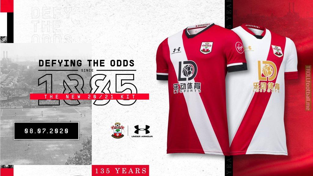 Southampton FC kit for 20/21 revealed