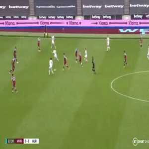 West Ham 0-[1] Burnley - J. Rodriguez 39'