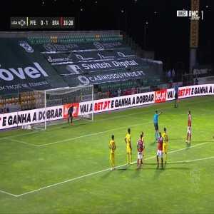 Paços Ferreira 0-2 Braga - Paulinho penalty 34'