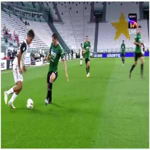 Juventus Atalanta 0-1, halftime, Dybala last-minute dribble