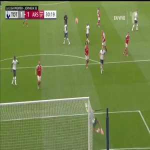 Emiliano Martínez save vs. Tottenham Hotspur 30'