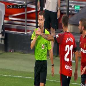 Sevilla 1-0 Mallorca: Lucas Ocampos penalty goal 41'