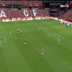 Granada 0-1 Real Madrid: Ferland Mendy goal 10'