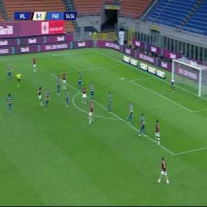 Milan [1]-1 Parma: Franck Kessié goal 55'