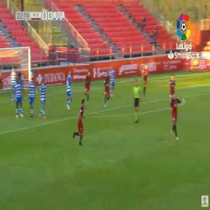 Mirandes 1-0 Deportivo - Martin Merquelanz free-kick 23'