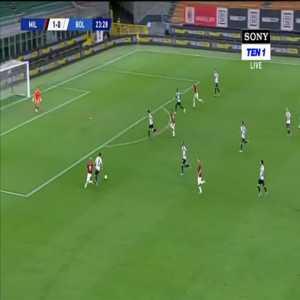 AC Milan [2]-0 Bologna: Hakan Çalhanoğlu 24'