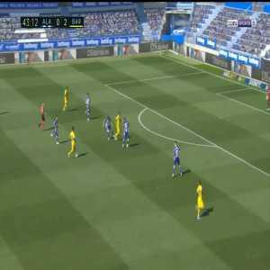 Deportivo Alavés 0-3 Barcelona: Luis Suarez goal 44'
