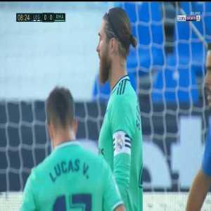 Leganés 0-1 Real Madrid: Sergio Ramos goal 9'