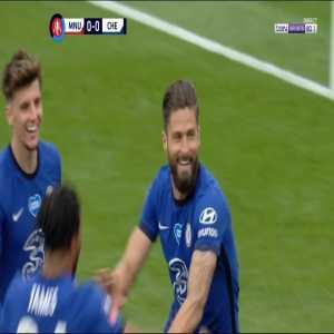 Manchester United 0 - [1] Chelsea - Giroud 45+10'