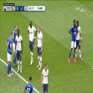 Tottenham Hotspur 2-0 Leicester City: Harry Kane goal 37'