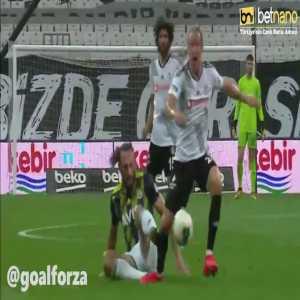 Vedat Muriqi (Fenerbahce) straight red card vs Besiktas 26'