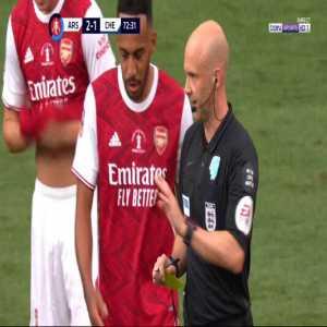 Kovacic (Chelsea) second yellow card vs Arsenal 73'