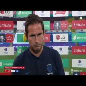 """""""We didn't play well enough to win a final."""" Frank Lampard on Chelsea's FA Cup final defeat   Post-Match Interview"""