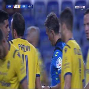 Cristian Gabriel Romero (Genoa) second yellow card against Verona 62'