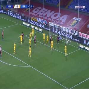 Genoa 3-0 Verona - Cristian Gabriel Romero 44'