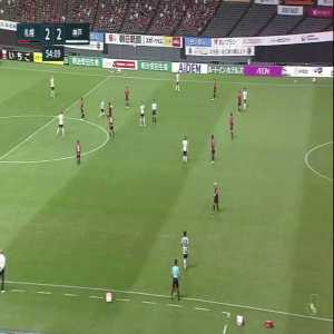Some of Andres Iniesta (Vissel Kobe) touches vs Consadole Sapporo