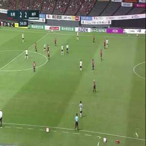 Some of Andres Iniesta (Vissel Kobe) touches vs Consadole Sapporo
