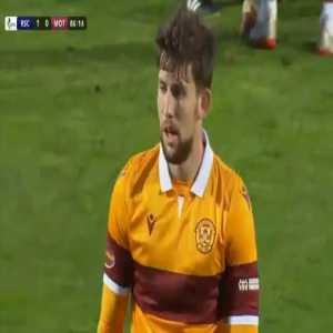 Callum Lang (Motherwell) straight red card against Ross County 87'
