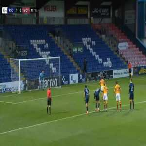 Liam Donnelly (Motherwell) penalty miss against Ross County 74'