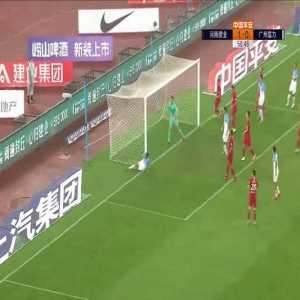 Eran Zahavi 100th goal for Guangzhou R&F (goal vs Henan Jianye)
