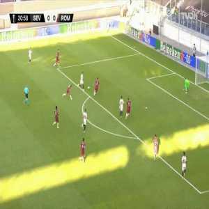 Sevilla 1-0 Roma: Sergio Reguilon goal 22'