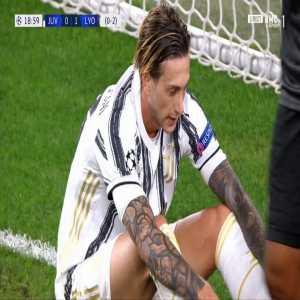 Federico Bernardeschi run and Marcelo goal saving tackle 19'