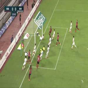 Amazing goal line clearance by Eduardo vs Kashima Antlers