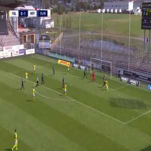 Falkenbergs FF hit the post 4 times in 3 seconds.