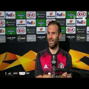 "Mata on after-game feelings:""I would say today is more relief to be honest and tiredness. We are quite tired physically. But it's very important to win games like we did today. We want to win this tournament."" 