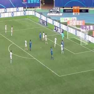 Shanghai Shenhua (1)-0 Dalian Pro - Kim Shin Wook goal