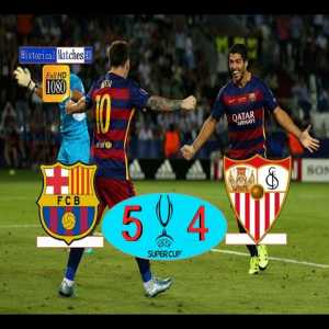 5 years ago today, Barcelona won the Uefa Super Cup in a 9 goal thriller of a game against Sevilla