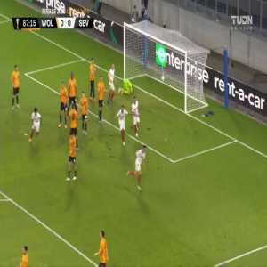 Wolverhampton Wanderers 0-1 Sevilla: Lucas Ocampos goal 88'