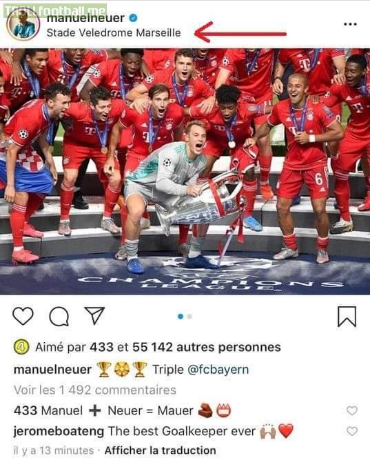 According to Neuer, the Champions League final wasn't in Estadio da Luz.