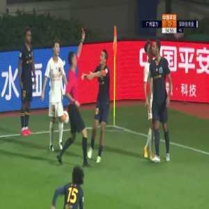Mousa Dembele (Guangzhou R&F) red card vs Shenzhen FC